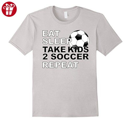 f1ef24eb5 Men's Soccer Father's Day Gift Idea Eat Sleep Repeat T-Shirt Small Silver  (*Amazon Partner-Link)