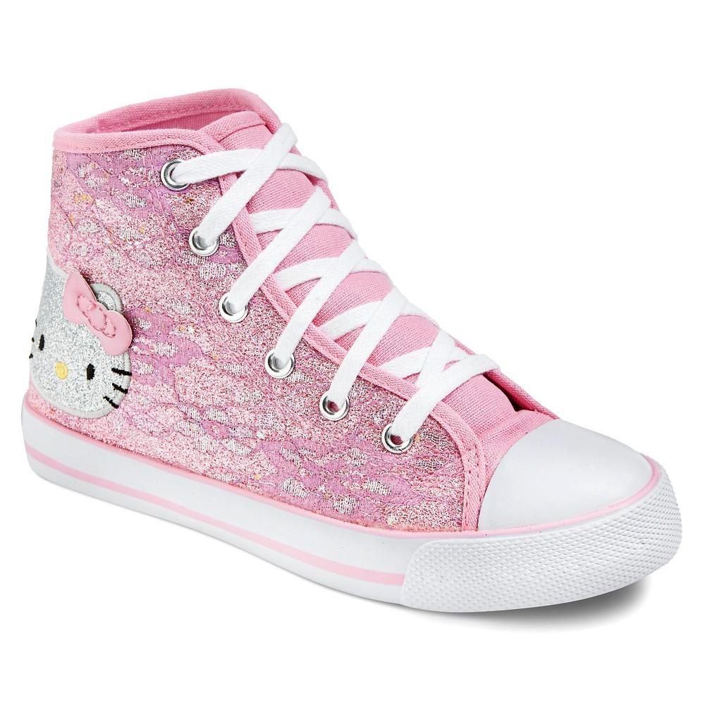 Little Girls High Top Sneakers