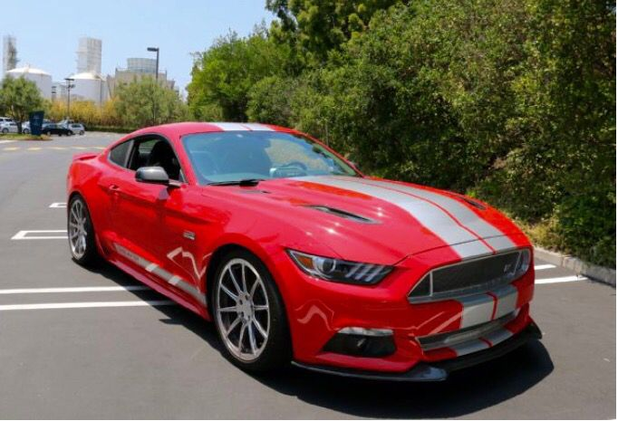 The Ford 2015 Shelby GT S550 Mustang.