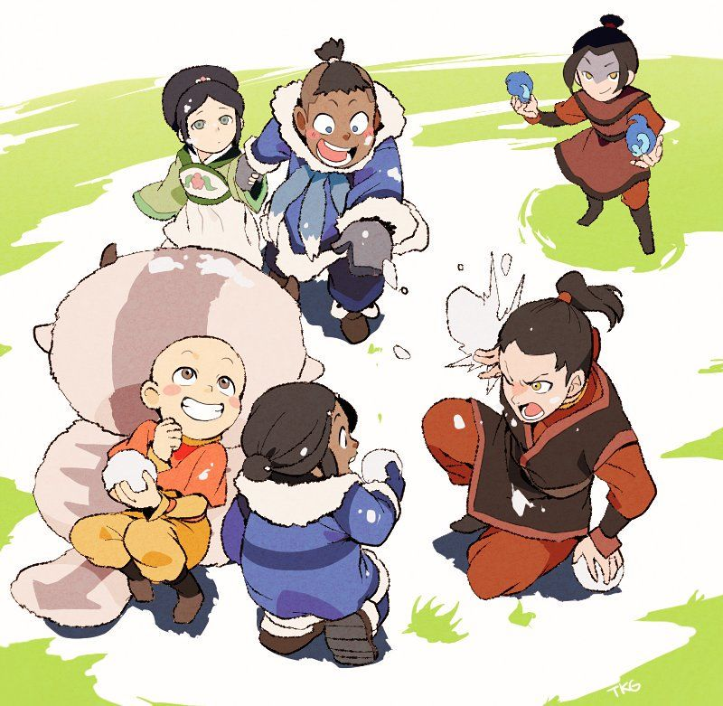 This is adorable. Sokka's like C'mon Toph, i will show