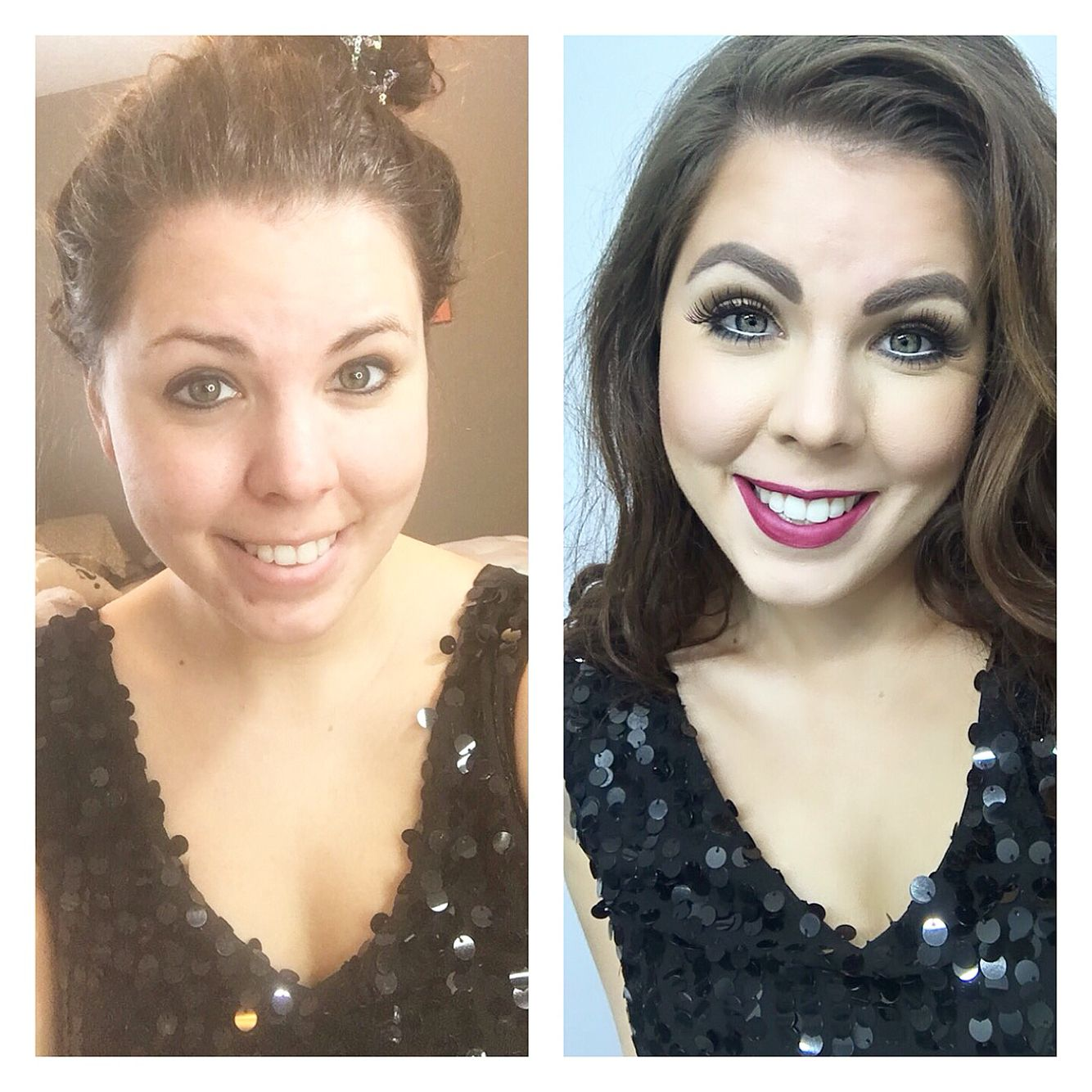 Before and after using the one and only Dinair airbrush ...