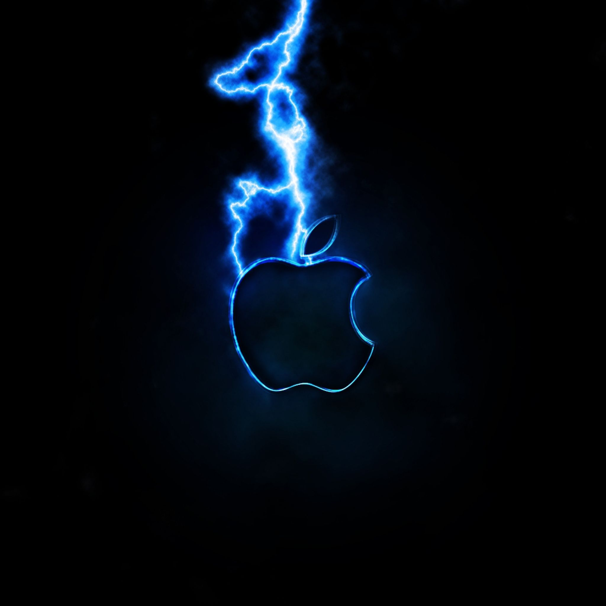 2048x2048 wallpaper app storm, apple, mac, blue, black, dark