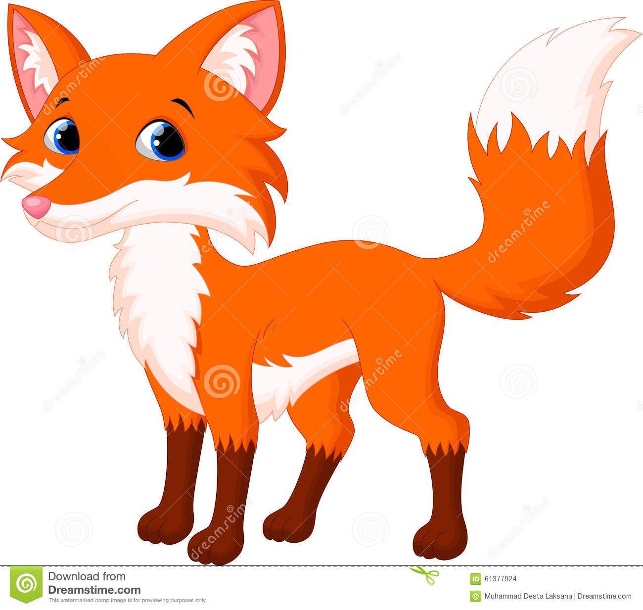 Cute Fox Cartoon Stock Illustration Image 61377924 Cartoon Fox Drawing Cartoon Drawing For Kids Cute Fox