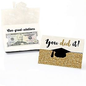 Tassel Worth The Hassle - Gold - Graduation Theme | BigDotOfHappiness.com