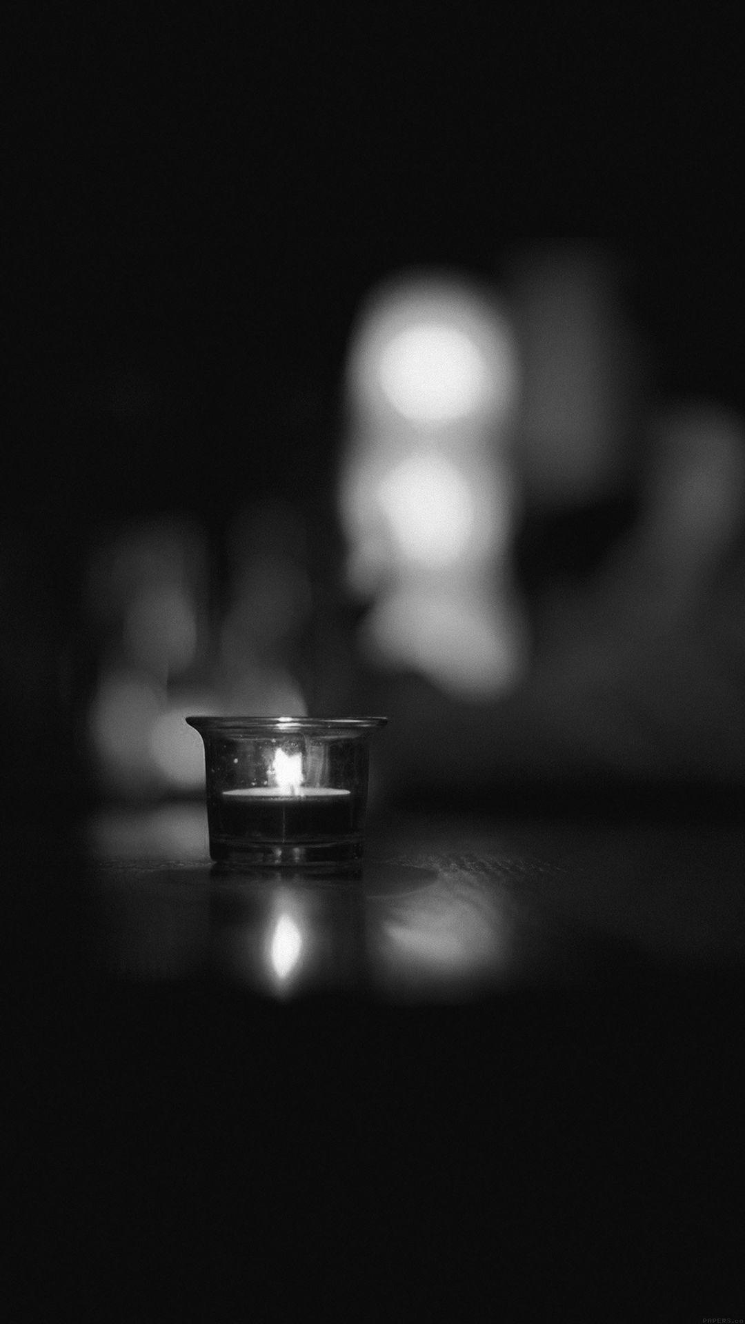 Candle Light Night Bw Bokeh Romantic Iphone 6 Plus Wallpaper Iphone Light Grey Wallpaper Iphone Candles Wallpaper