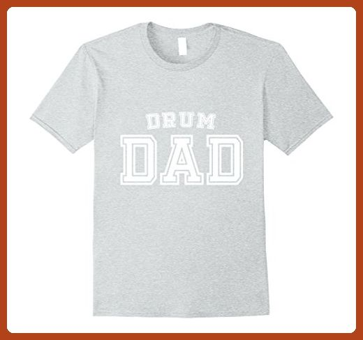 Mens Drum Dad Cute Funny Father Day Gift Men Man Husband Band XL Heather Grey - Holiday and seasonal shirts (*Partner-Link)