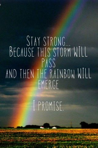 The Storm Will Pass Quotes Posters Art Rainbow Quote Rainbow