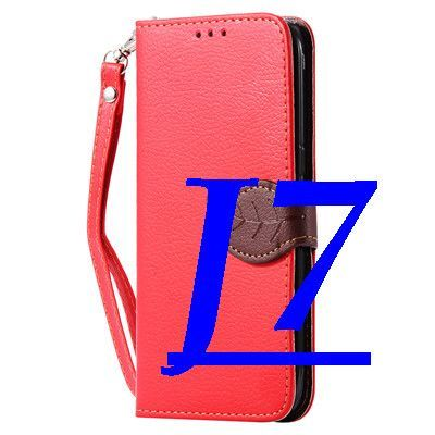Lychee Skin Fresh Leaf Close Case for Galaxy J5 J7 Stand Wallet with Card Slot Cover for Samsung Galaxy J5 J7 Flip Phone Cover