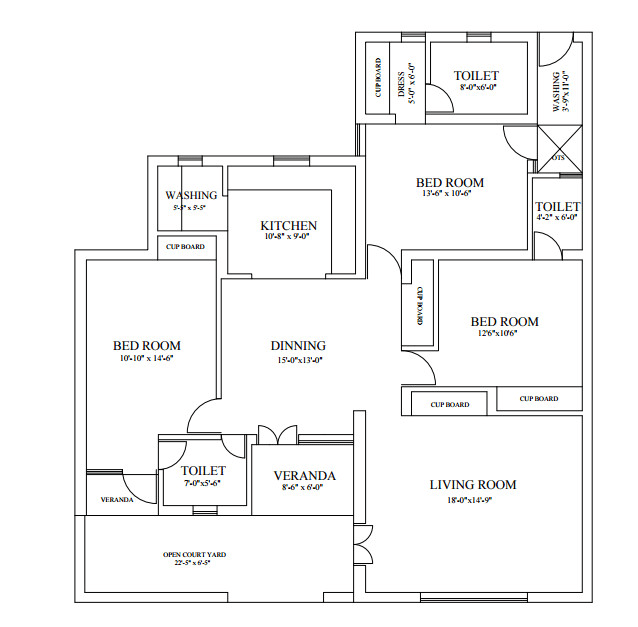 Floor Plan Autocad 2d Drawing Civil Autocad House Design Drawing Interior Sketch