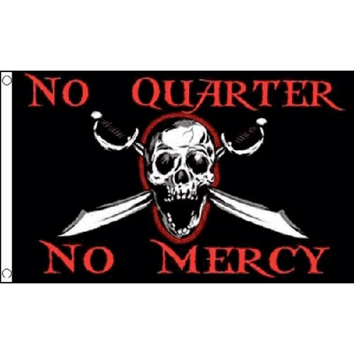 No Quarter No Mercy Flag 5ft X 3ft Pirate Jolly Roger Halloween Banner Awesome Products Selected By Anna Churchill No Quarter Pirate Flag Halloween Banner