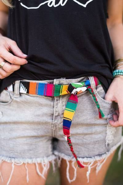 Colorful Woven Serape Belt - Ranch and Famous