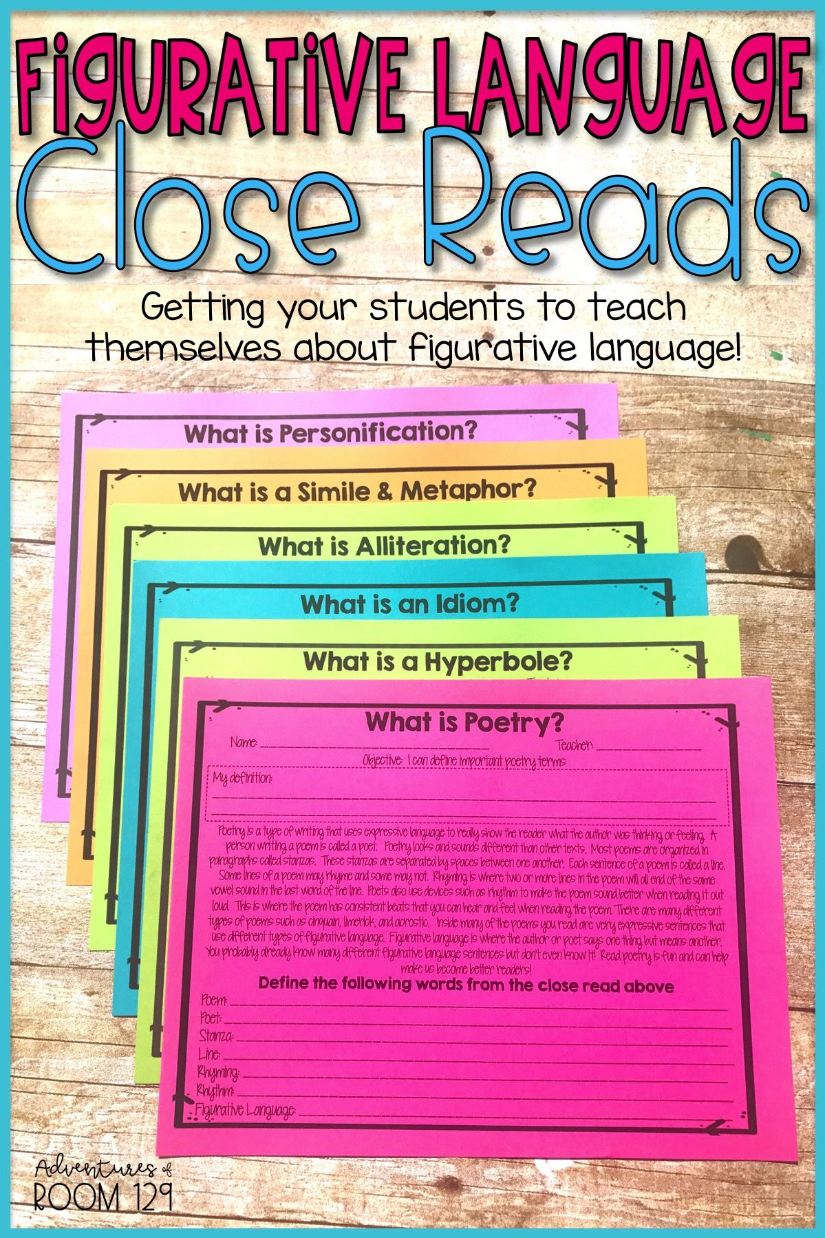 Figurative Language Printables