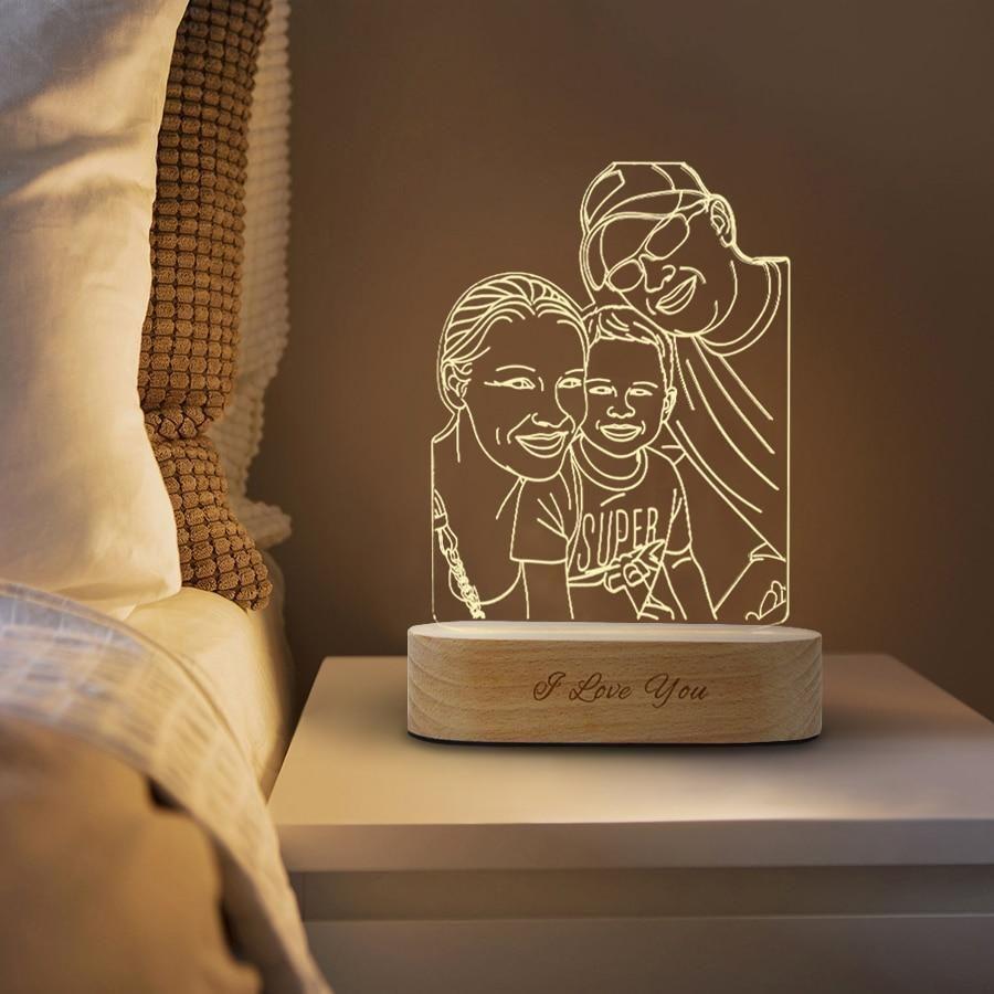 Haz Un Regalo único E Inolvidable Con La Lámpara Personalizada 3d Ve Más Allá De Los En 2020 Lámpara Foto Regalos De Navidad Para Papá Regalo De Navidad Para Marido