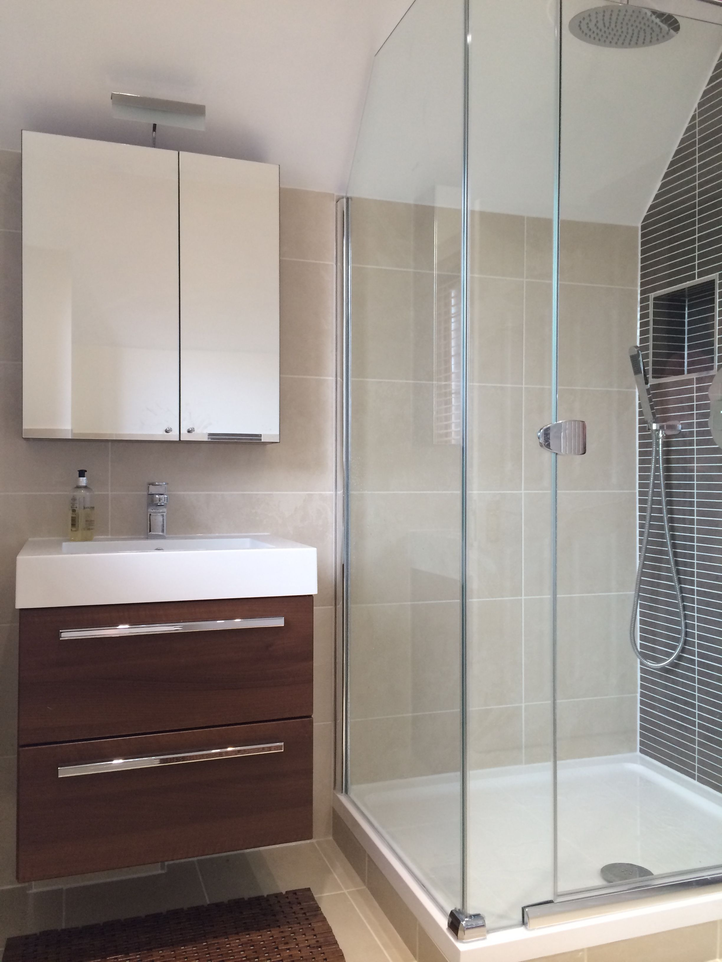 Compact Shower Room designed by Beyond Bathrooms in Camberley