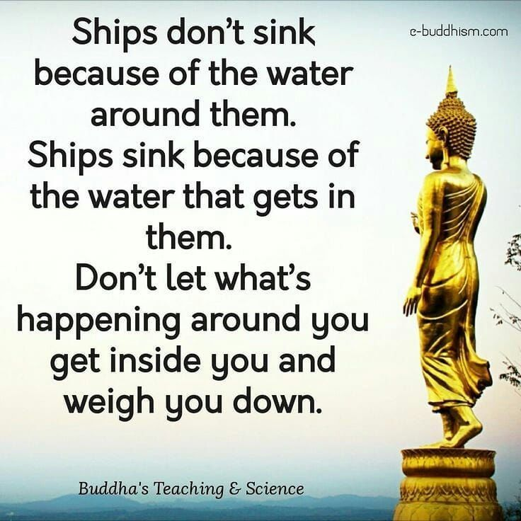 Don't let what's happening around you get inside you and weigh you down