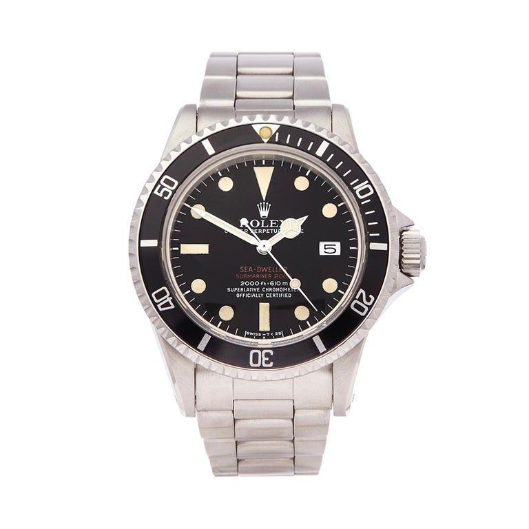 Rolex Stainless Steel 1973 Sea-Dweller Double 1665 #stainlesssteelrolex