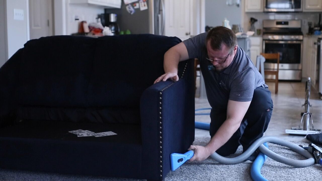 This Is Paul Ragsdale One Of Our Best Upholstery Cleaning