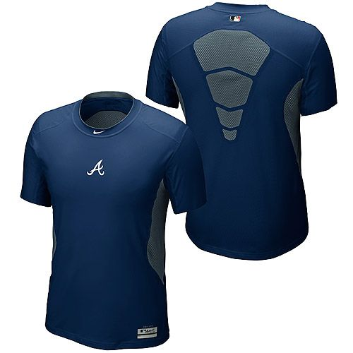 online store c1ee6 3caa9 Atlanta Braves AC Hypercool 1.2 Short Sleeve by Nike - MLB ...