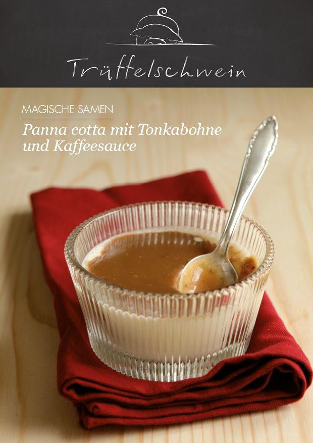 Panna cotta mit Tonkabohne und Kaffeesauce