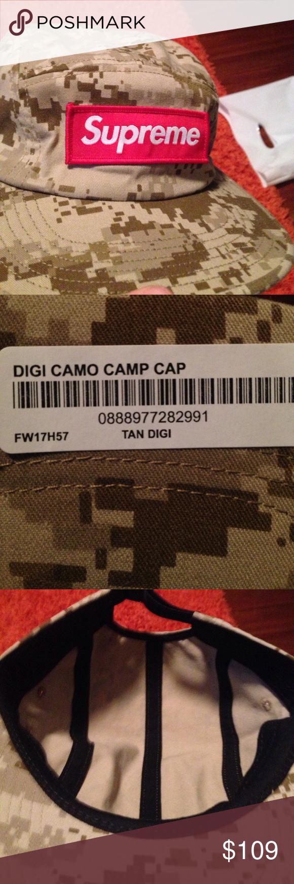 Camo Supreme hat DIGI CAMO CAMP CAP! Red box logo! 100% legit. Supreme  Accessories Hats 28675b9326f