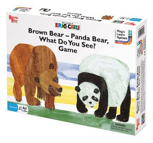 University Games Brown Bear-Panda Bear, What Do You See? Game by University  Games,  - http://www.amazon.com/dp/B000MI43XA/ref=cm_sw_r_pi_dp_b1WLqb1JZF7GR - Everett