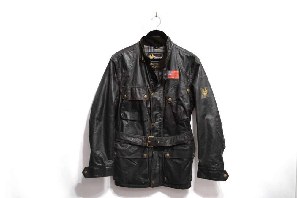 1973887672 Belstaff Trialmaster S Icon Racing Motorcycle Jacket - Mens Medium Waxed  Moto #Belstaff #Motorcycle