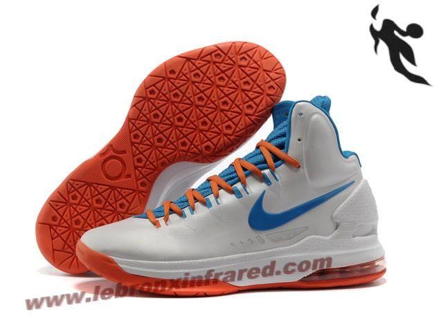 Nike Zoom KD V 5 Home Basketball Shoes  9ae4f1048