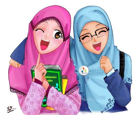 Gambar Kartun Muslimah Berdo U2019a Bergerak Comel Kumpulan Gambar U0026 Animasi Bergerak Gif Kartun Gambar Kartun Animasi