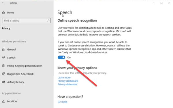 How to turn off Windows 10 Speech Recognition Speech