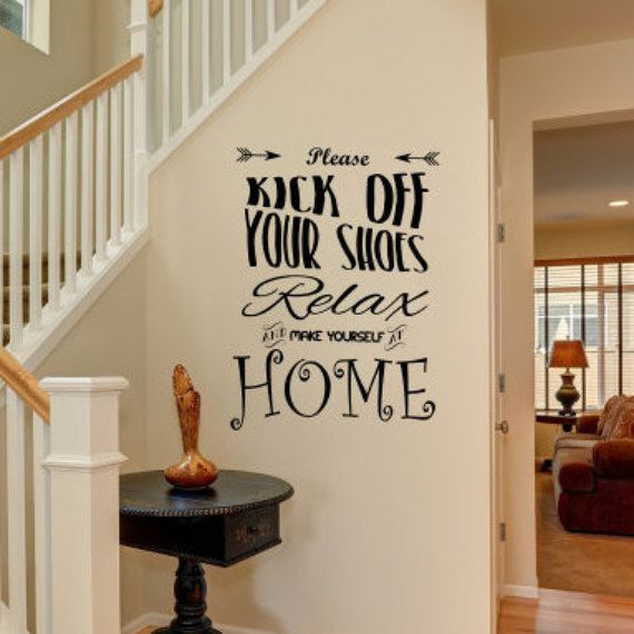 Welcome Door Art Relax And Make Yourself At Home Wall Decal For - Wall decals entryway
