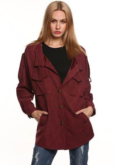Lapel Single Breasted Coat