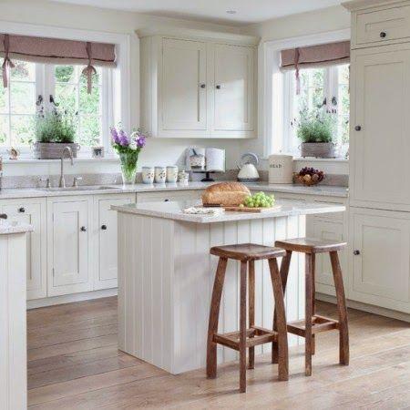 Organizar una cocina peque a cocina peque a peque os y - Cocina cuadrada pequena ...
