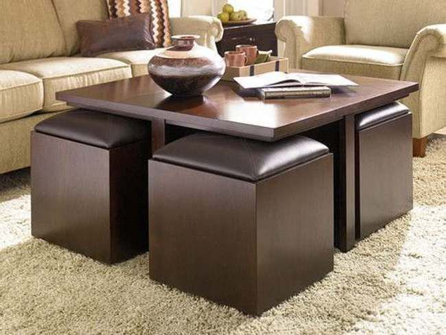Furniture Alluring Coffee Tables With Storage Ottomans Underneath
