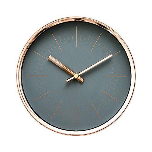 Modern Design Scandinavian 6 Silent Nonticking Sweep Movement Desktop Clock Table Clock Wall Clock With Rose Gold Frame Sleek Gold Wall Clock Clock Wall Clock