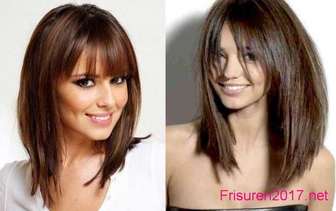 Mittellang Frisuren Damen Makeover Pinterest