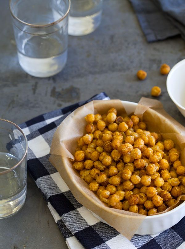 curry fried chickpeas//spoon fork bacon