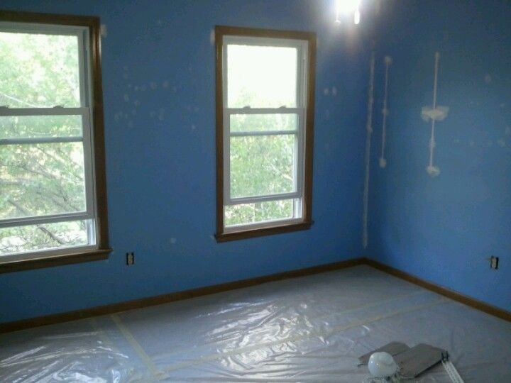 The room paint at the start