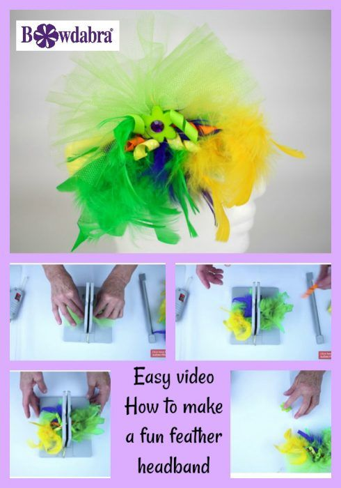 Watch This Video To Make A Quick Fun Feather Headband Feather