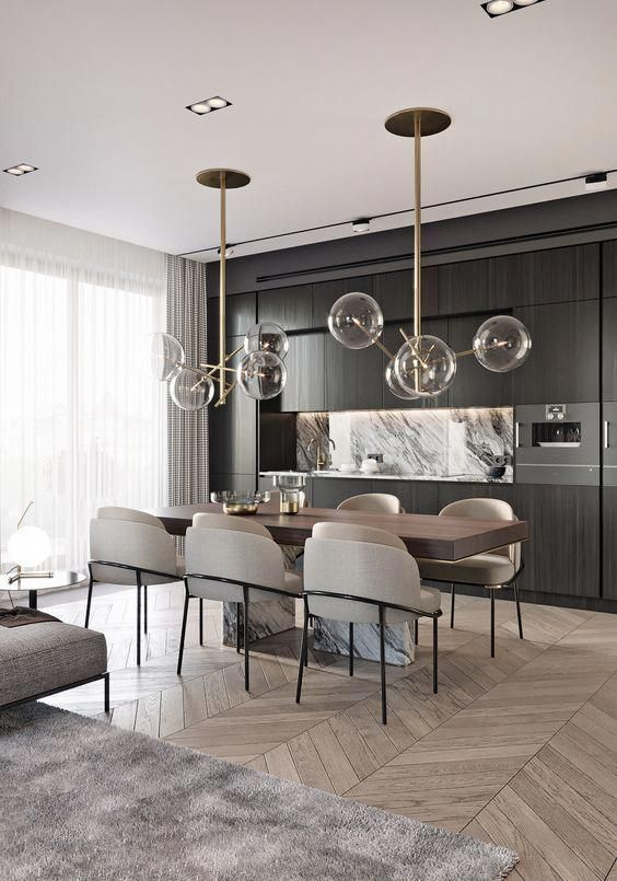 Modern Room And Interior Design Clean Lines And Muted Soft Colors Modern Glass Dining Table Contemporary Home Decor Dining Suites