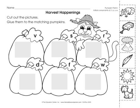 It's a harvest of phonemic awareness—beginning sounds and