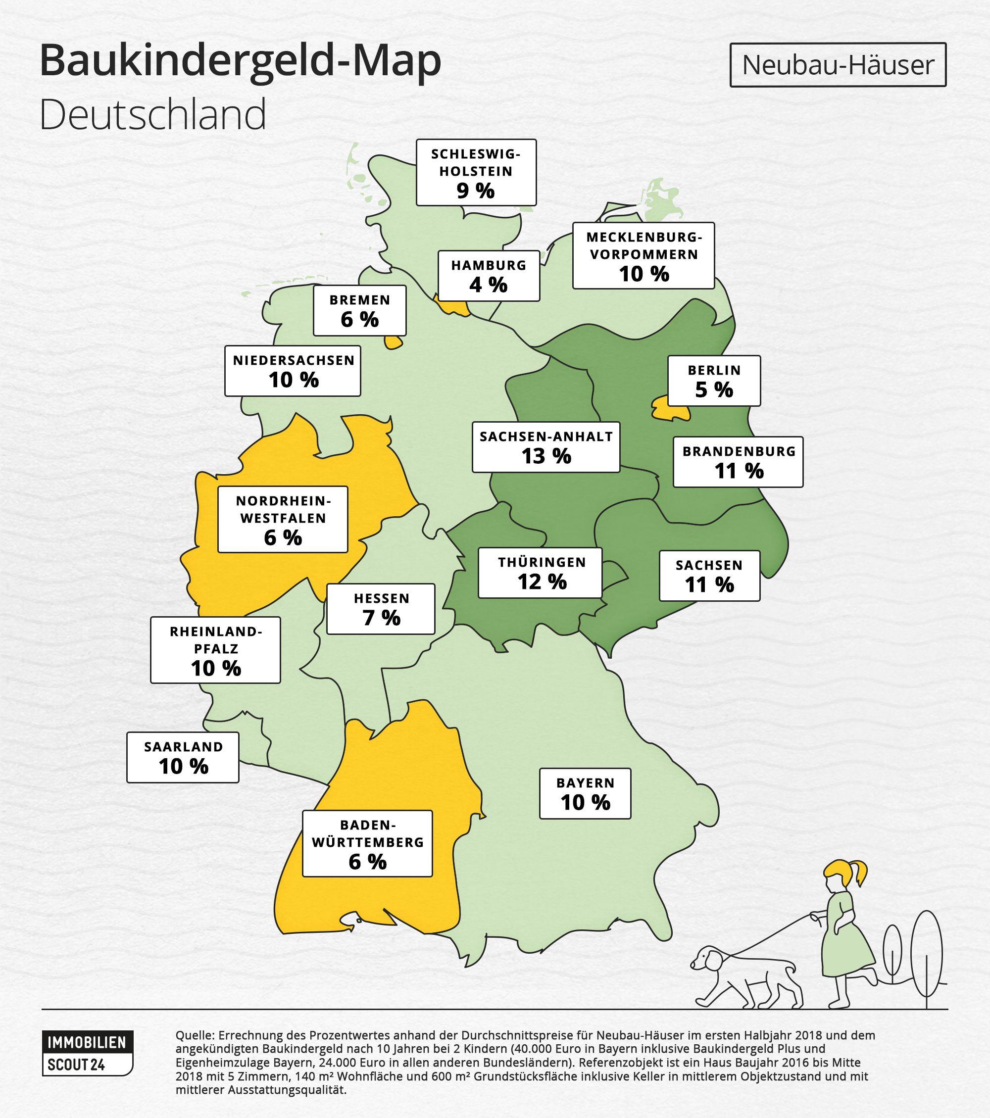 Bundesland Bremen Karte.Baukindergeld Zur Zusatzfinanzierung Ihres Hauses Die Karte Zeigt