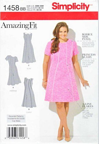 Simplicity Sewing Pattern 1277 Women\'s Plus Size 20W-28W Amazing Fit ...