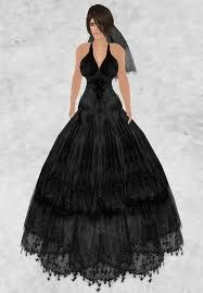 I Think This Is A Very Pretty Black Wedding Dress