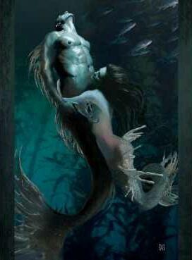Sexy mermen and mermaids