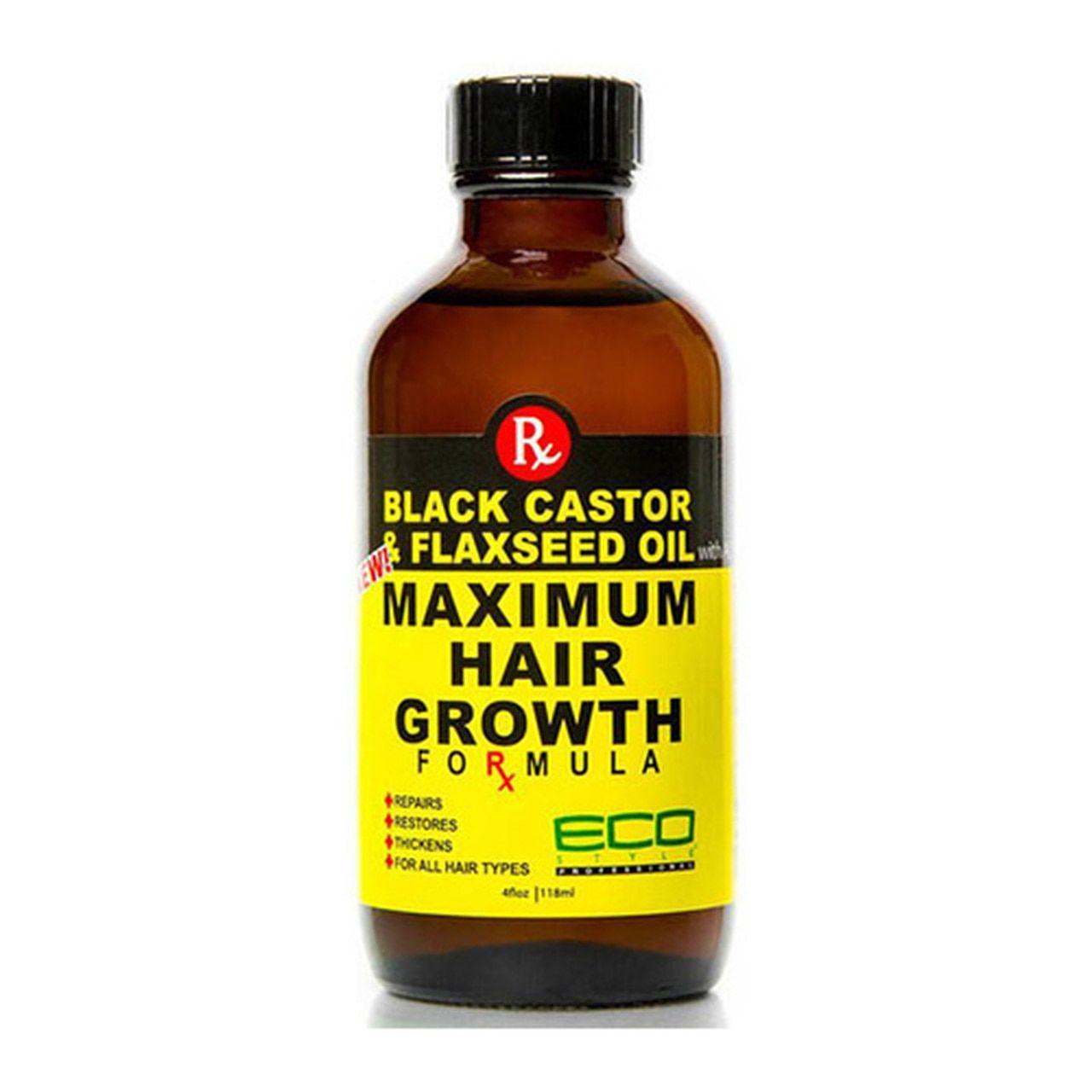 ECO Black Castor Oil & Flaxseed Oil Maximum Hair Growth 4