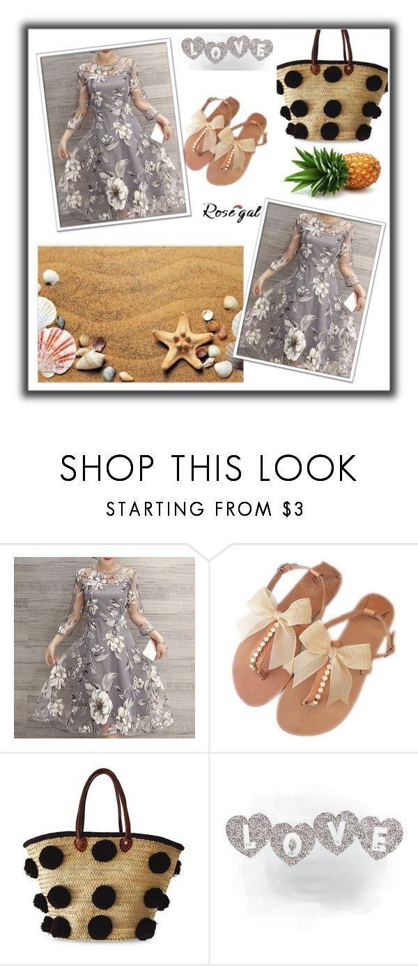 """""""Dress from Rosegal"""" by dzenanlevic99 ❤ liked on Polyvore featuring Soeur Du Maroc"""