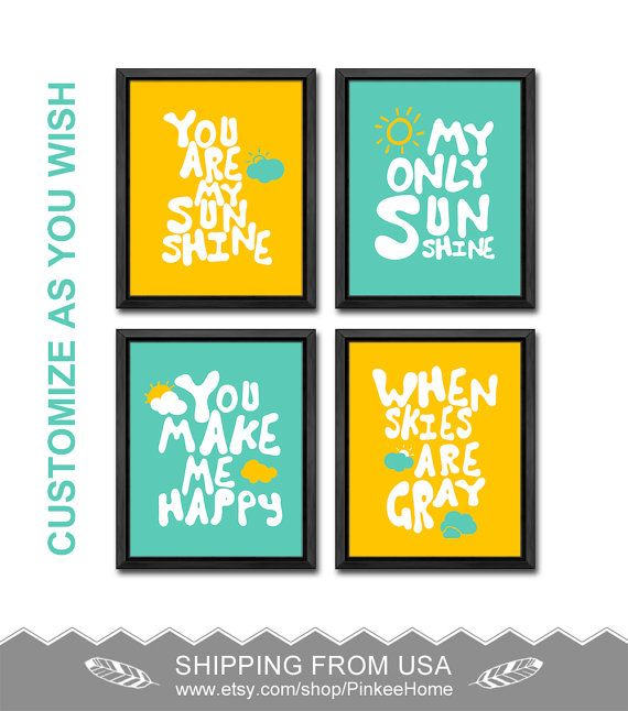 you are my sunshine nursery for baby boys you are my sunshine wall ...