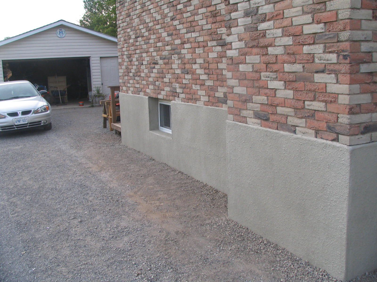 Parging Applying A Mortar Coat To Control Leakage In