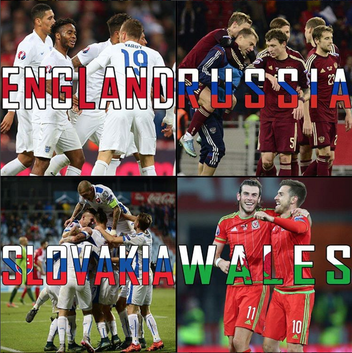 GROUP B — Must-see game: England vs. Wales. Group X factor: England will be rather more confident of escaping this group than they were in Brazil in 2014 after Italy and Uruguay were pulled from that draw, but each opponent presents difficulty, and especially that opening match against the Welsh.