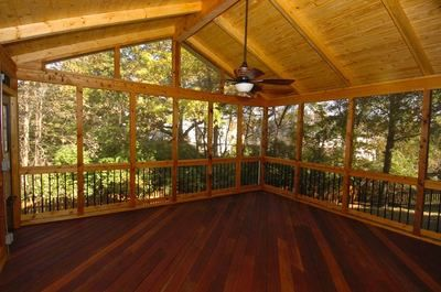 Screened Porch W T Cathedral Ceiling Dream House